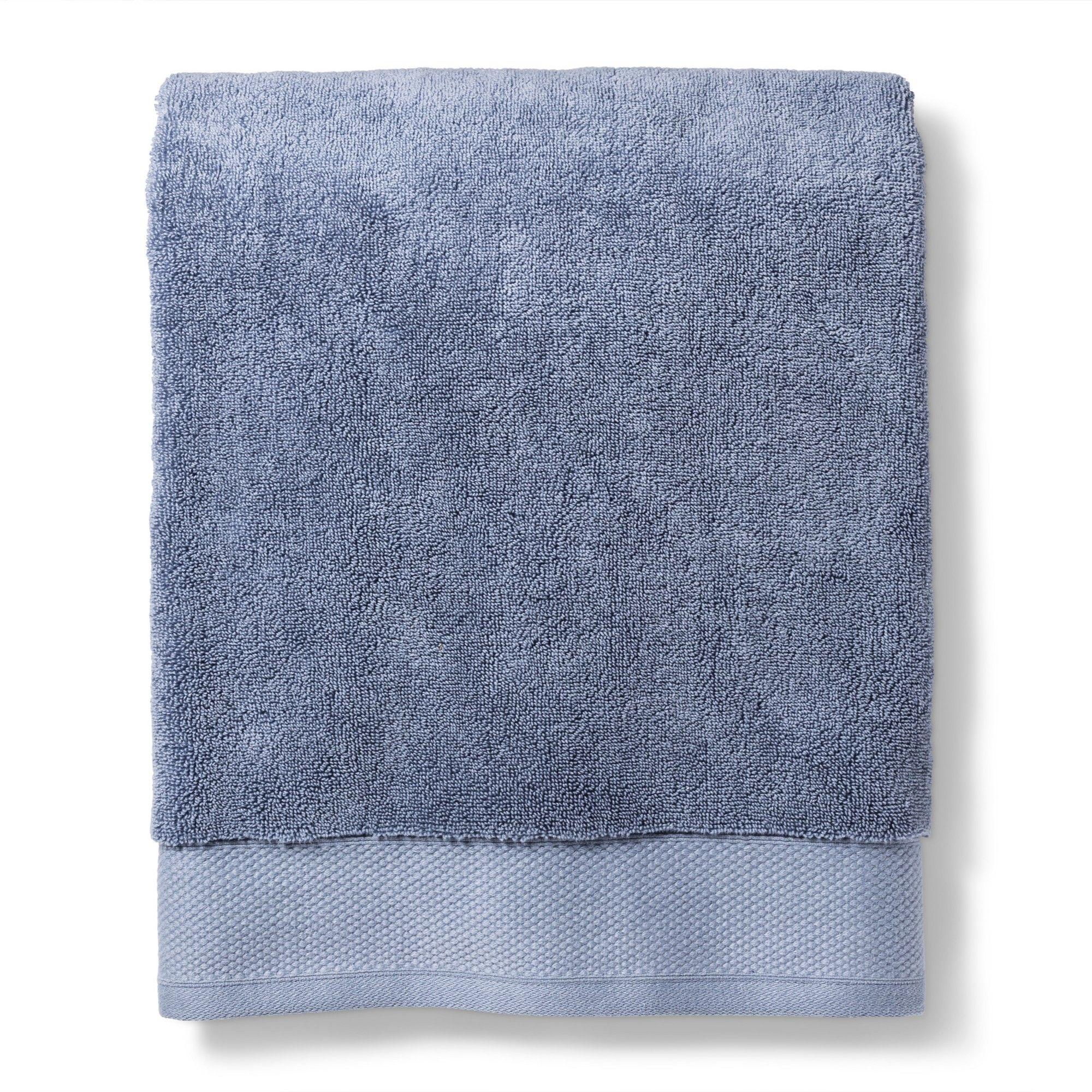 Reserve Solid Bath Towel Blue Fieldcrest Towel Blue Towels