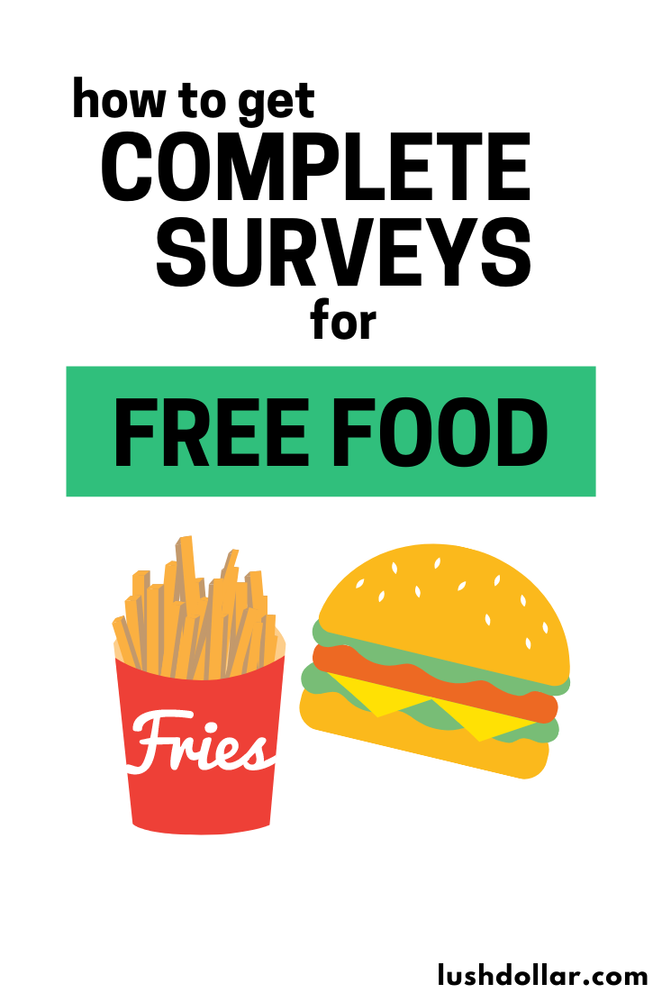 Complete These Surveys For Free Food In 2020 Free Things Free Everything Free