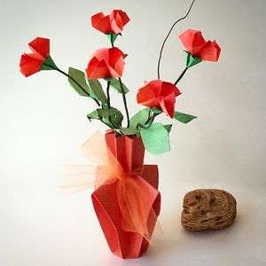 Beautiful Delicate Origami Flower Arrangement Available In Shop On