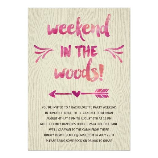 Cabin Fever Rustic Bachelorette Party Card Cabin fever - bachelorette invitation template
