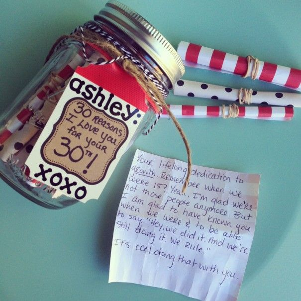 Birthday Gift Idea With Sentiment. 30 Reasons I Love You