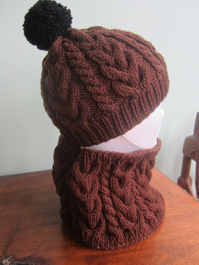 Tutoriel gratuit pour tricoter un ensemble Bonnet,Snood point Irlandais  pour les enfants de 6 à 8 ans