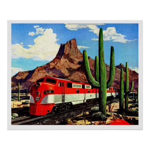 Vintage Southern Pacific #Railroad Travel Ad Print by TheVintageVamp