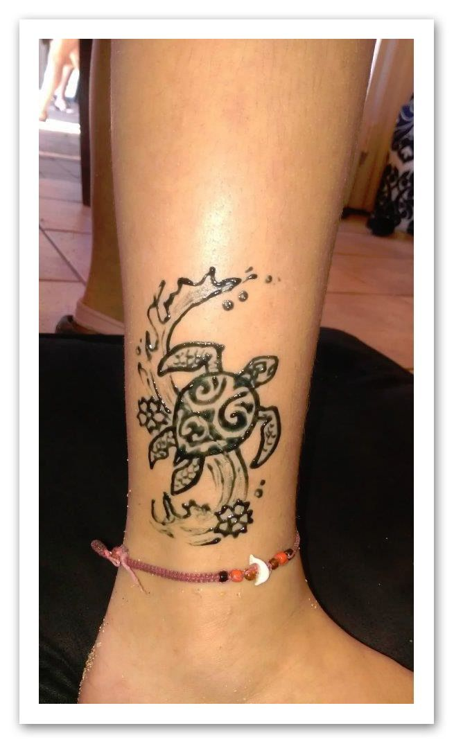 Small Henna Wrist Tattoos Sea Turtle And Lotus Infinity: Hawaiian Henna - Google Search