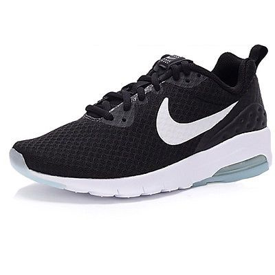 Nike Air Max Motion Low Womens 833662 011 Black White Running Shoes Size 10