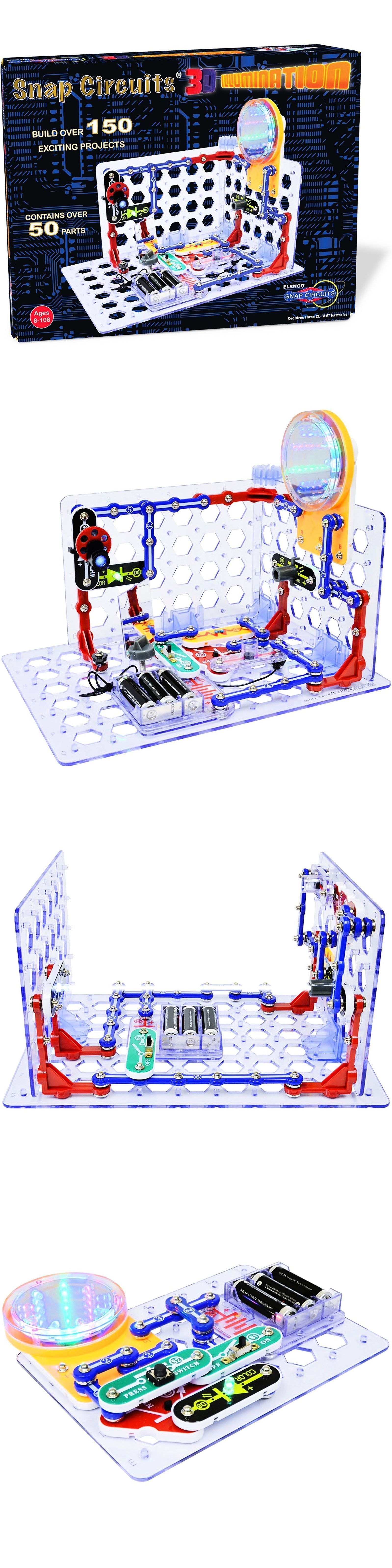 Electronics And Electricity 158698 Snap Circuits 3d Illumination Rc Rover Discovery Kit New For 2016
