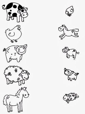 los animales y sus crías | Móðurmál | Pinterest | Preescolar, Fichas ...
