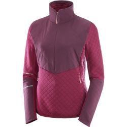 Photo of Salomon Elevate Warm Hz Jacket Women fleece pullover women red S SalomonSalomon