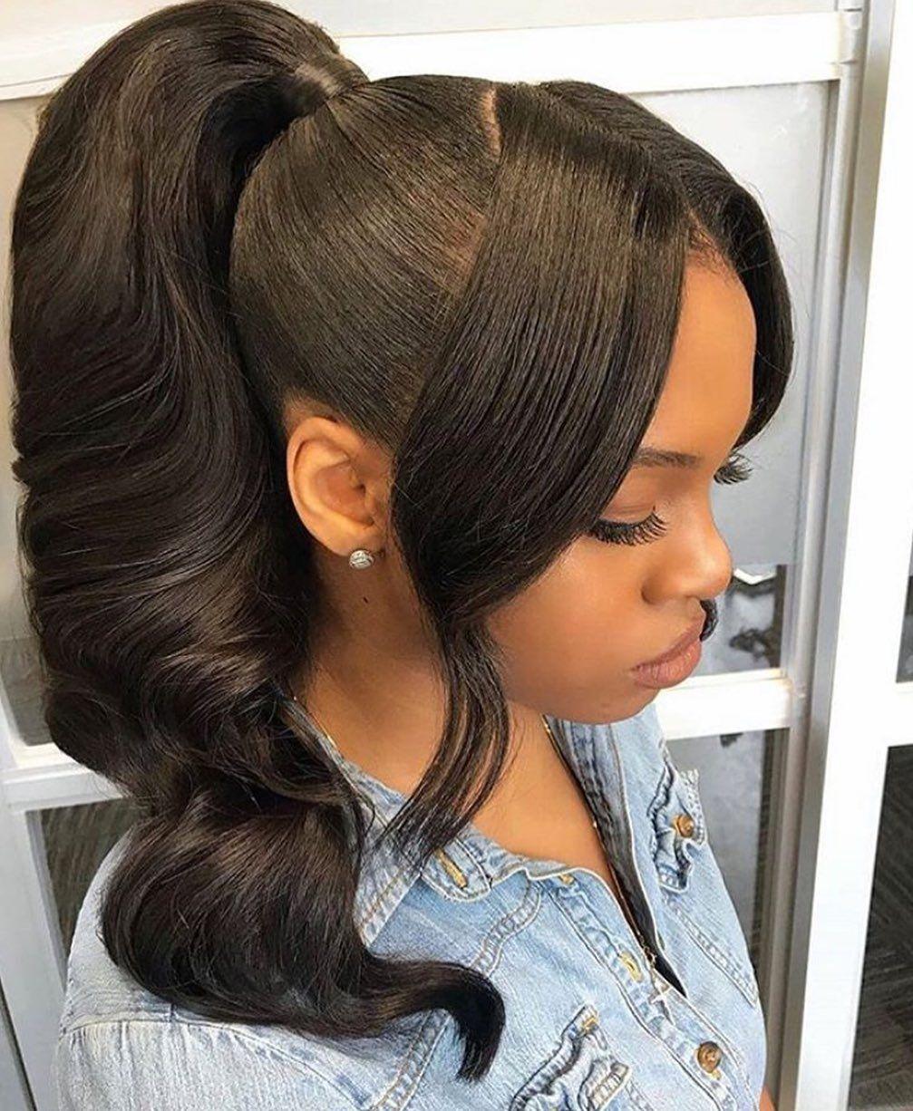 42++ Deep wave high ponytail ideas