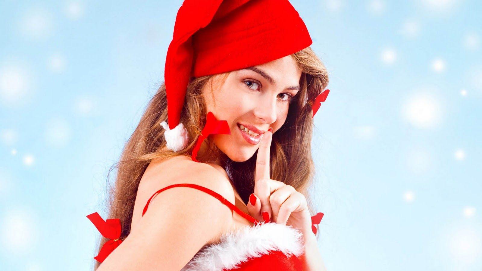 Cute Girls Sexy Beautiful Christmas Hd Wallpapers  -3071