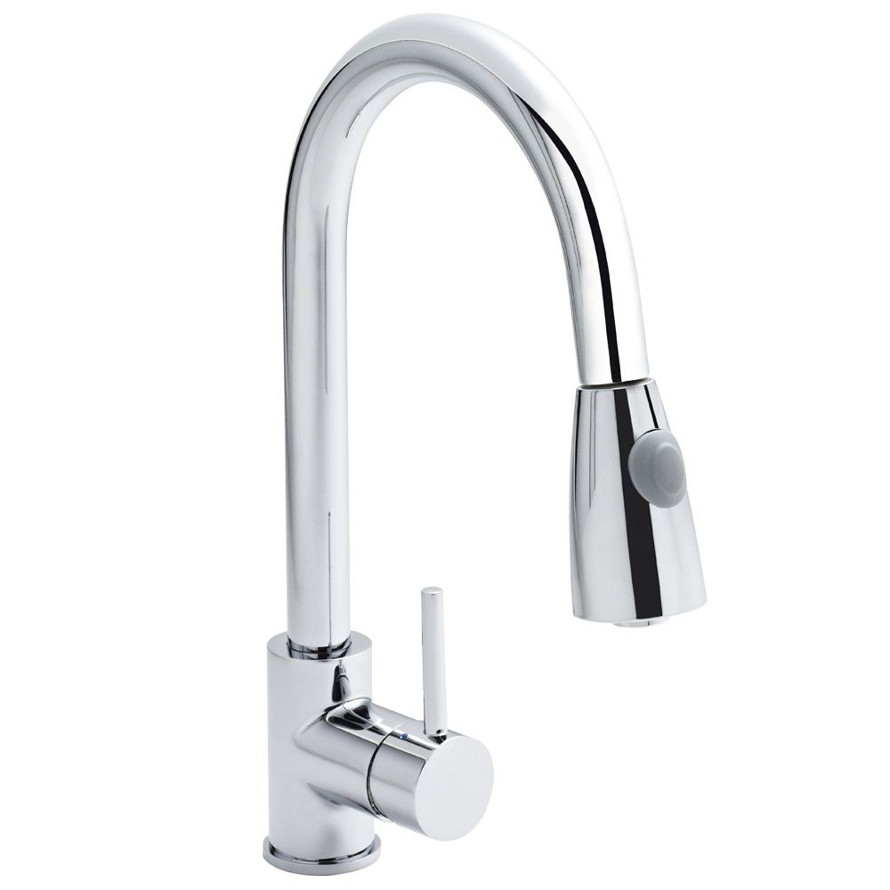 Taurus Kitchen Tap Chrome • Side Mounted single lever handle ...