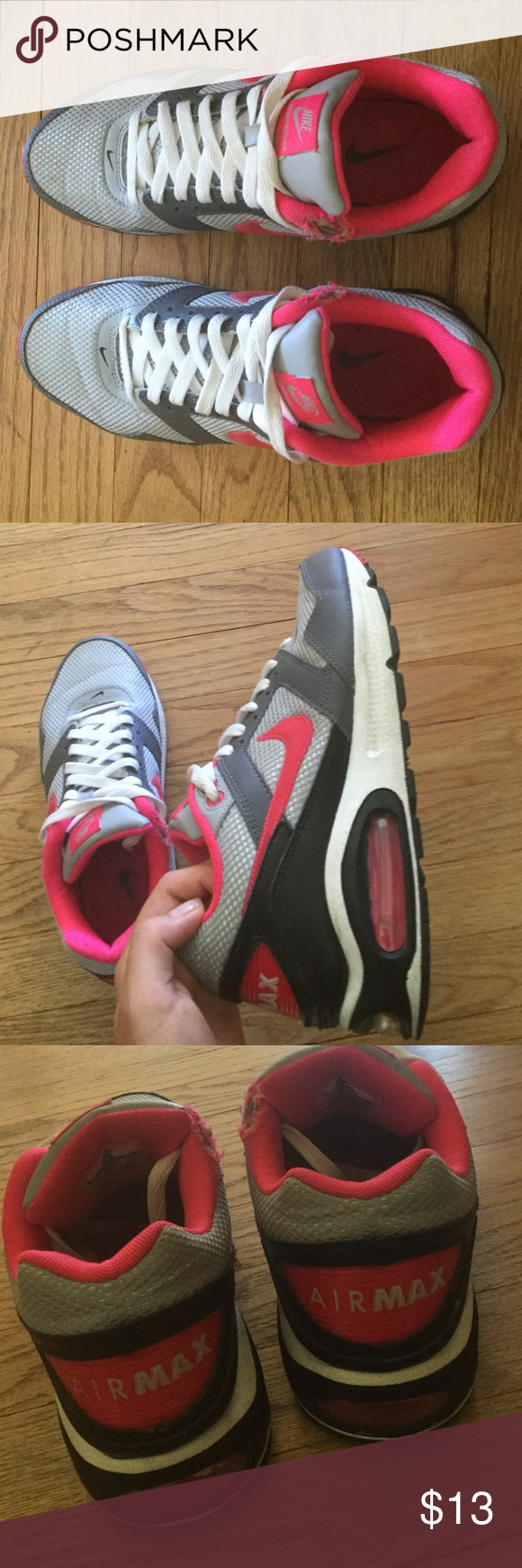 Nike air max hot pink, size 9 in women's They look pretty new besides the two holes in the shoes. Nike Shoes Sneakers