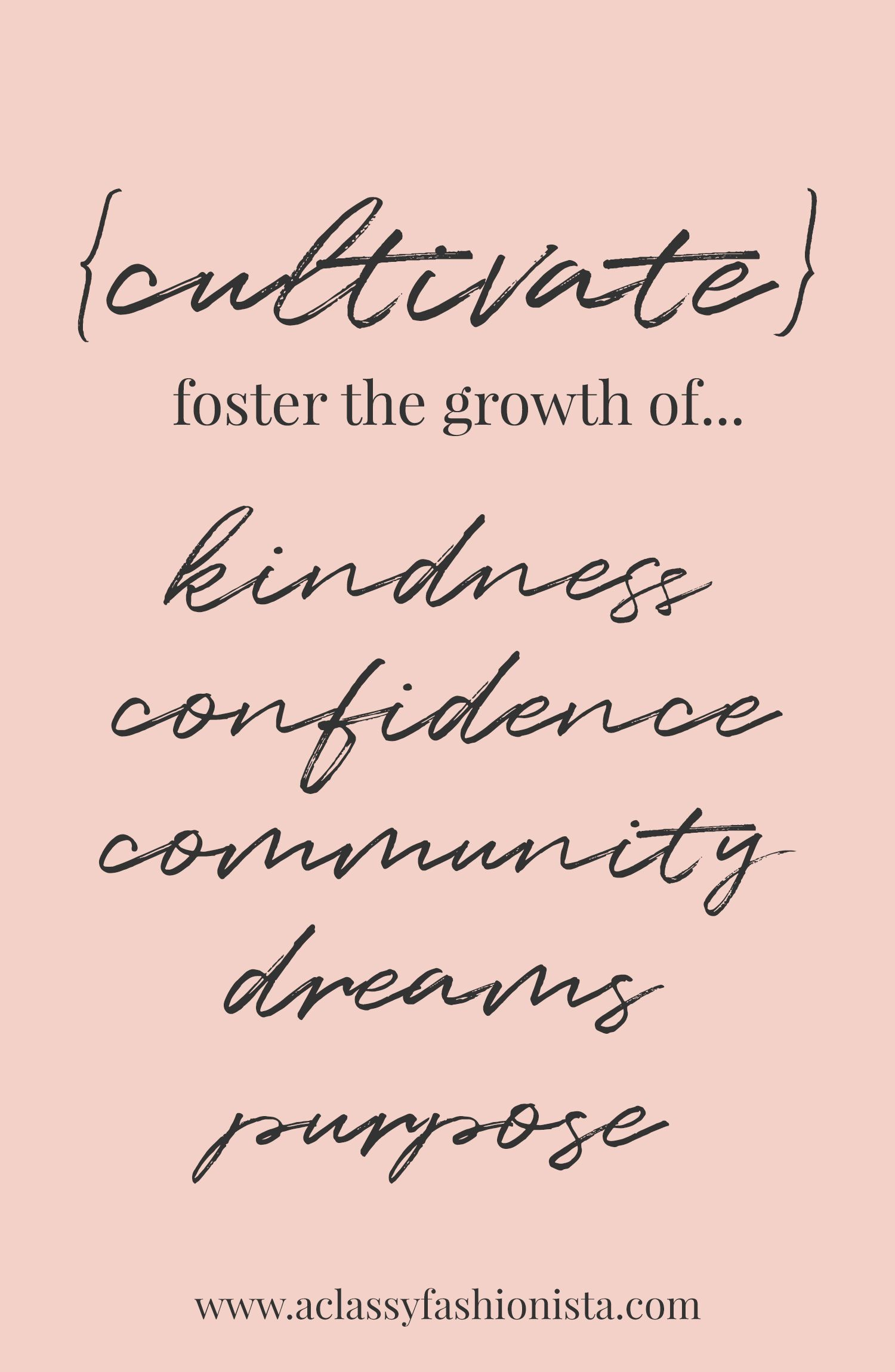CULTIVATE // MY WORD TO LIVE BY IN 2018