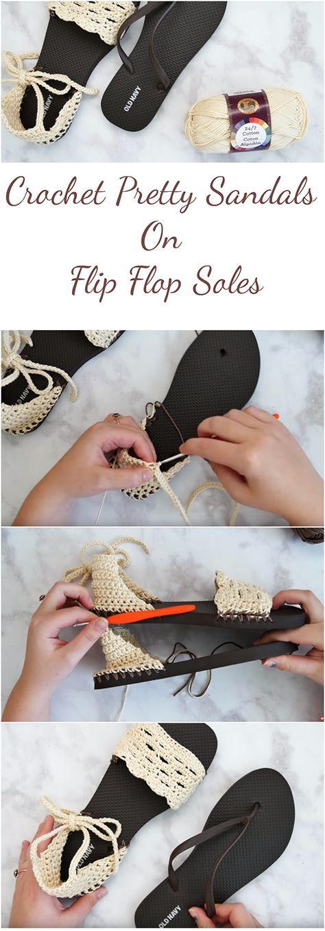 Crochet Sandals With Flip Flop Soles   Sandalias, Pies descalzos y ...