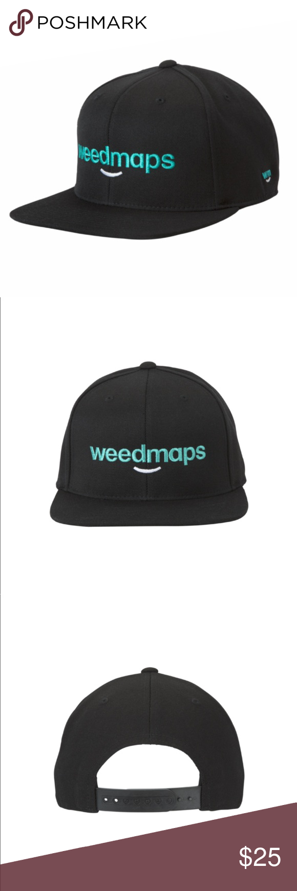 2 For 25 Weedmaps Snapback Hat 2 For 25 Any Two 15 Items Mix And Match Any Two 15 Items Message Me Before Snapback Hats Snapback Sweatband