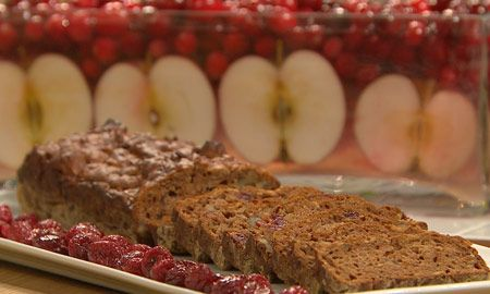 apple-cranberry cake (recipe in french)