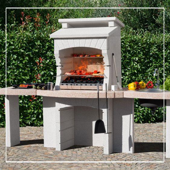 Un Barbecue En Pierre Reconstituee Makalu Crystal Met L Accent Sur L Authenticite Dans Votre Jardin Barbecue En Pierre Plan De Travail Barbecue