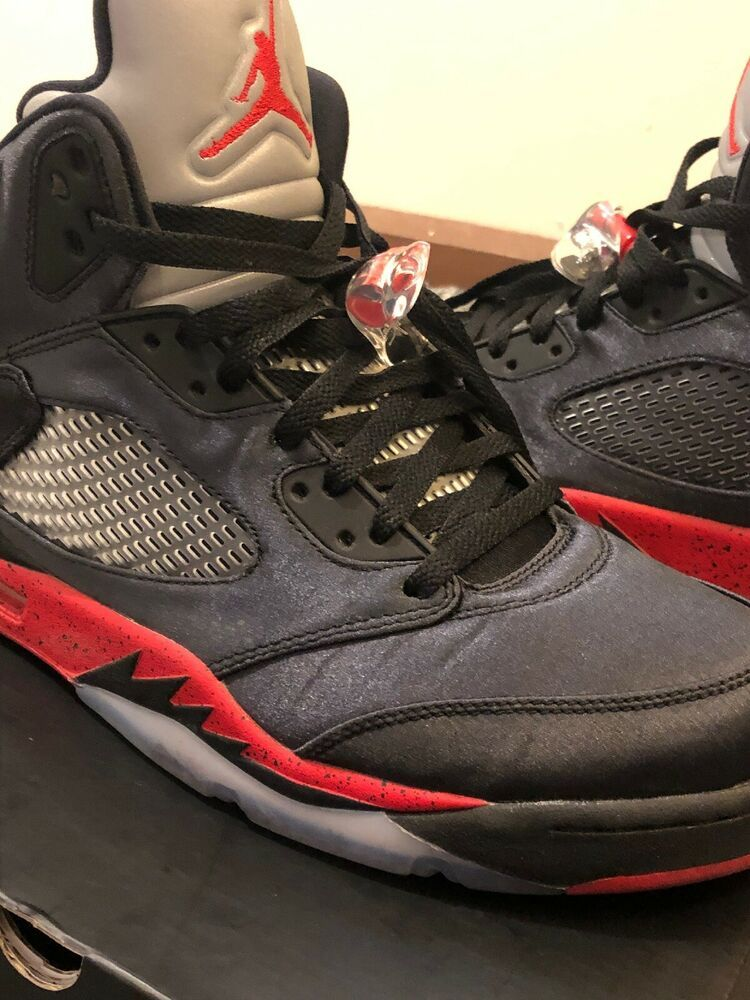 buy online 5a918 f2ccb Rare Limited Edition Air Jordan Retro 5 Satin Bred Black University Red Sz  12