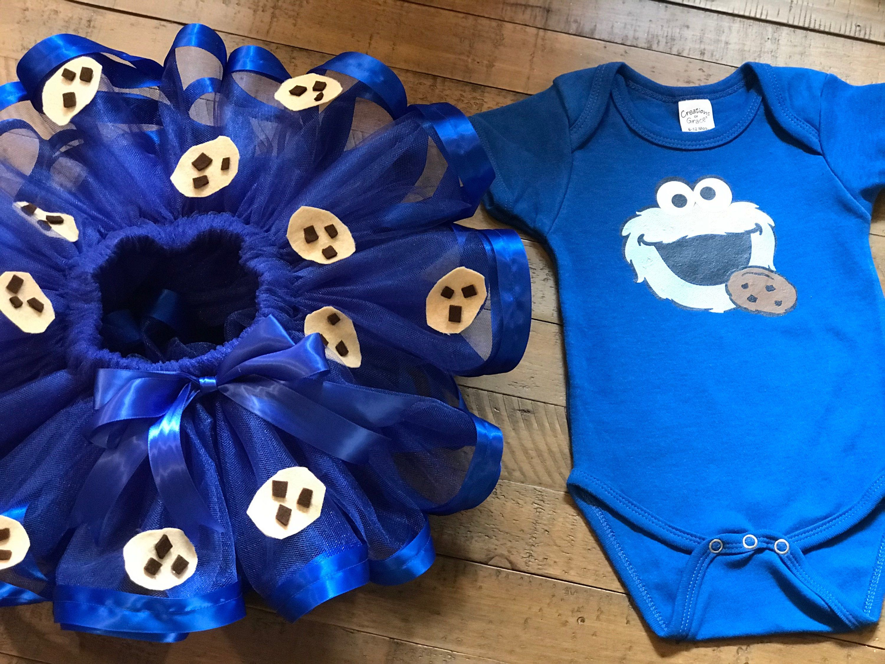 Cookie Monster Tutu and onesie Cookie Monster Birthday Party