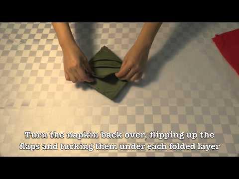 3 Fun & Creative Christmas DIY Projects | Christmas tree napkin ... | 360x480