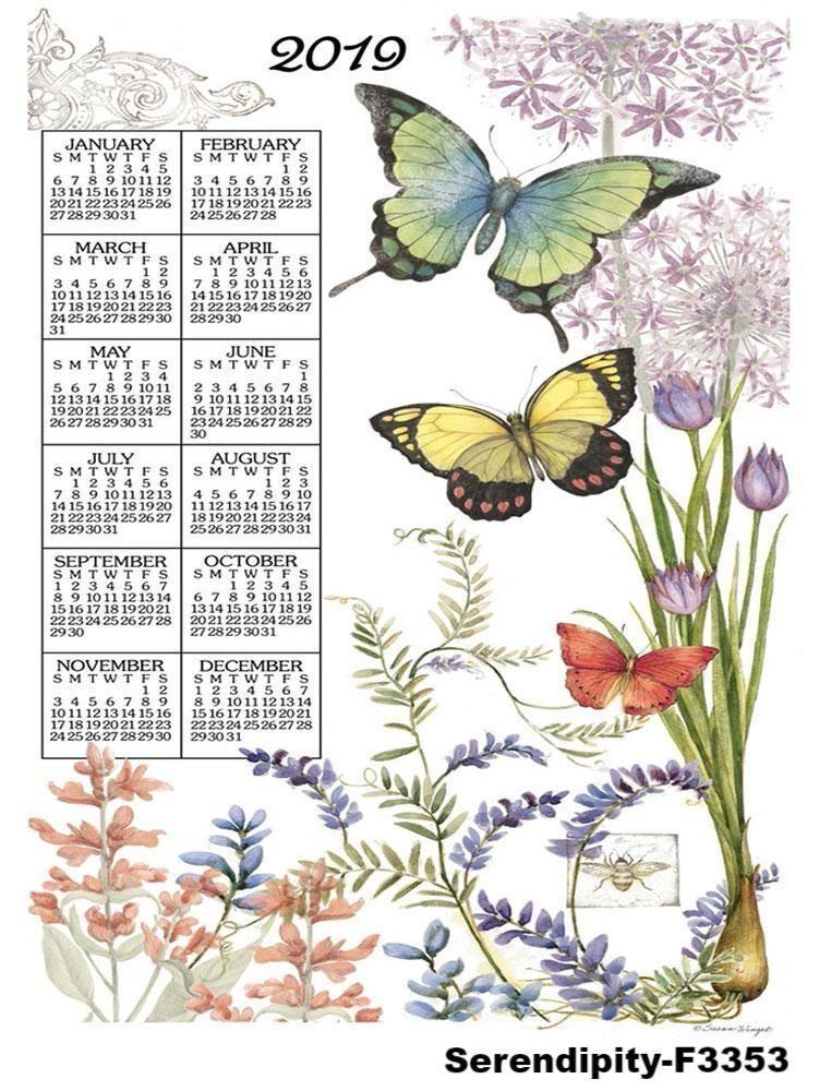 2019 Linen Calendar Towel in 2018 Calendars  Planners Pinterest