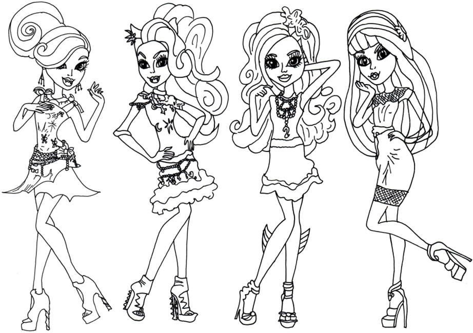 Free Printable Monster High Coloring Pages Page Black Carpet Frights Camera Action