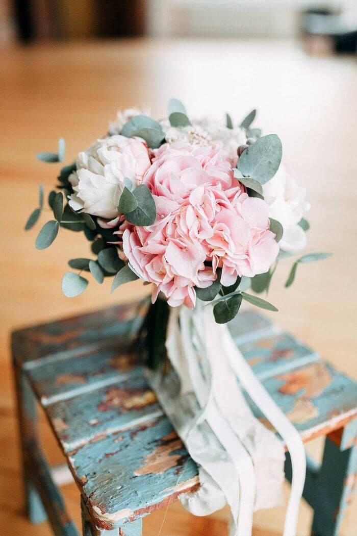 Brautstrauß rosa weiß | Viele Anregungen in der Bildergalerie