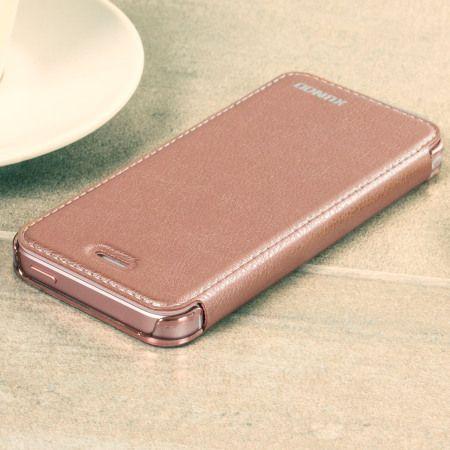 separation shoes 75af6 a409e Xundd iPhone SE Leather-Style Book Flip Case - Rose Gold | iPhone SE ...