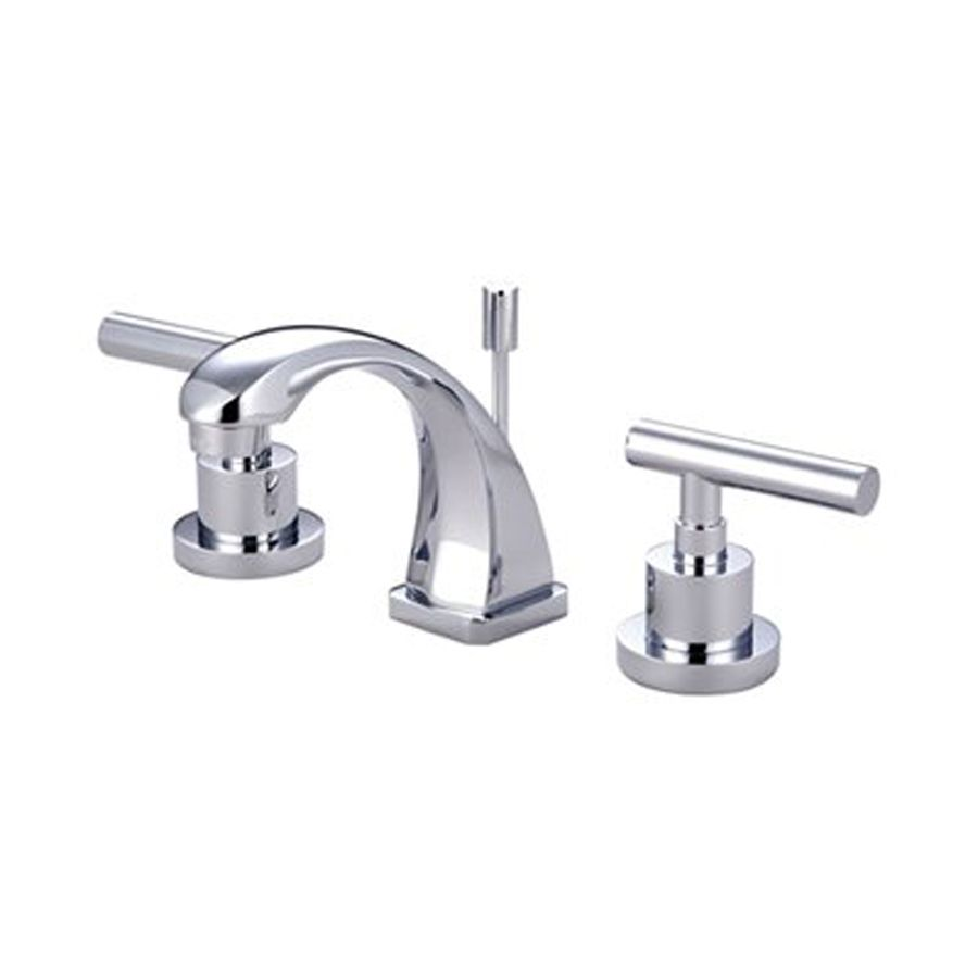 Elements Of Design Manhattan Polished Chrome 2 Handle 4 In Mini Widespread Bathroom Faucet Drain Included Lowes Com Widespread Bathroom Faucet Bathroom Faucets Faucet