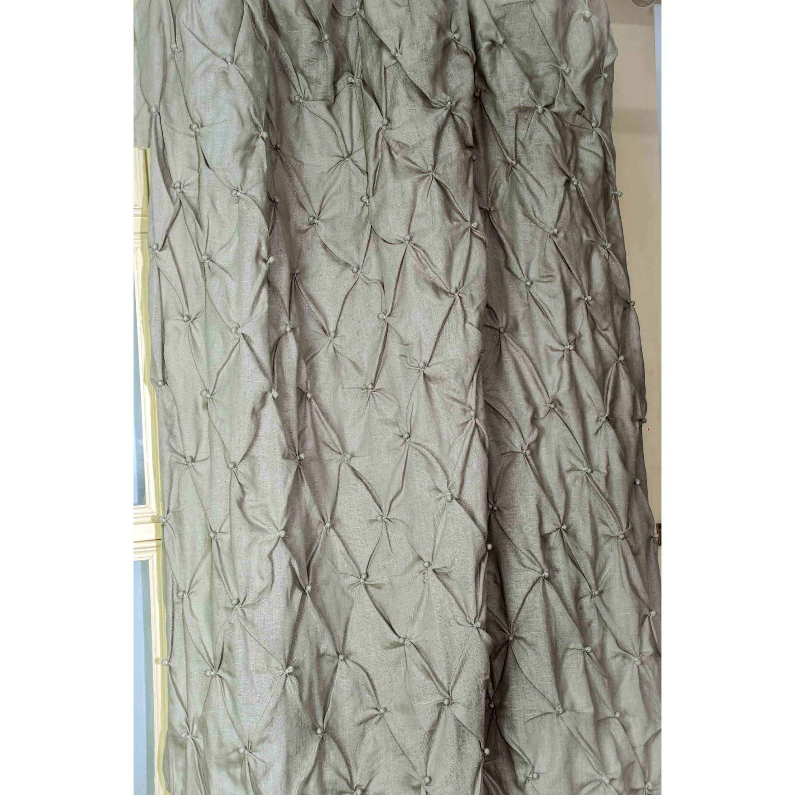 Linen Hand Knotted Curtain Panel Drape Item No D3 SAMZ XOMB