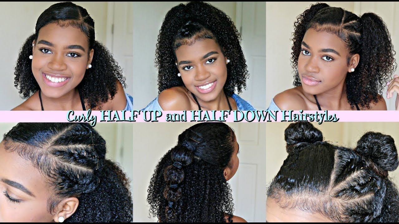 Half Up Half Down Hairstyles For Natural And Curly Hair With