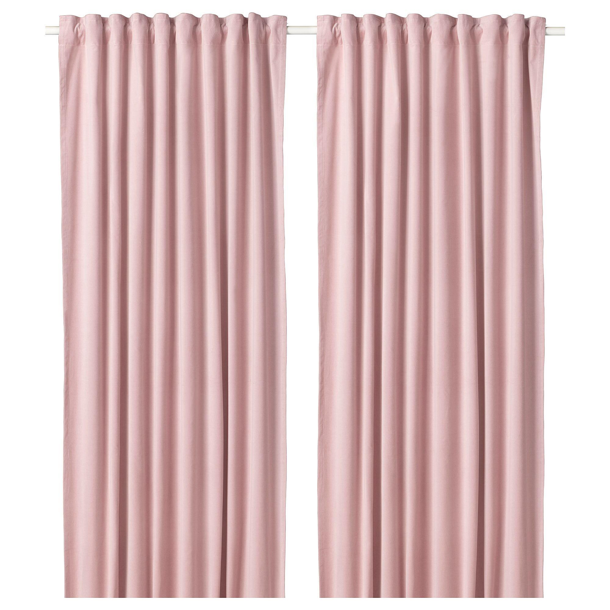 Sanela Room Darkening Curtains 1 Pair Light Pink Ikea Light