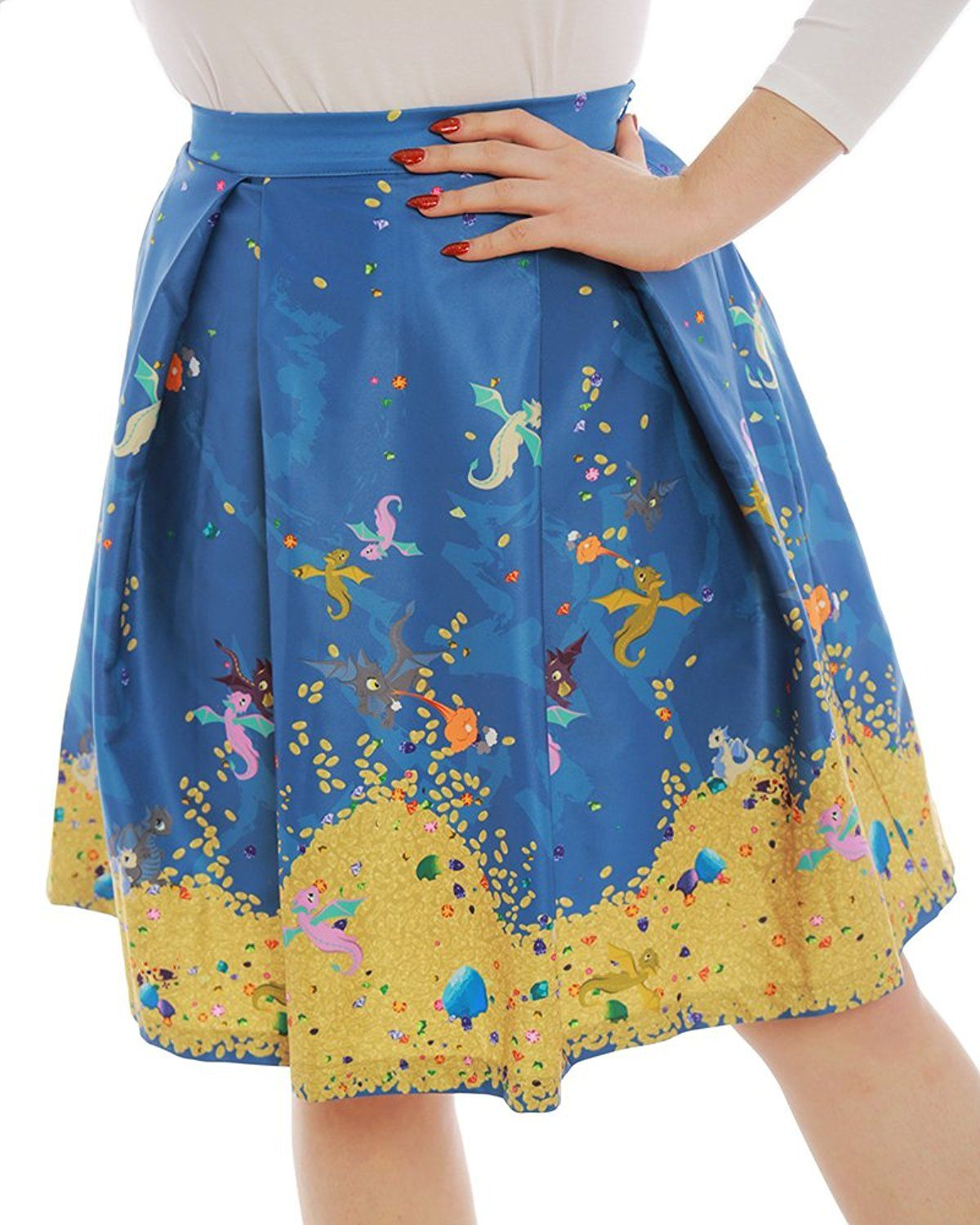 4a34e5230f Lindy Bop Marie  Baby Dragon Print Swing Skirt at Amazon Women s Clothing  store