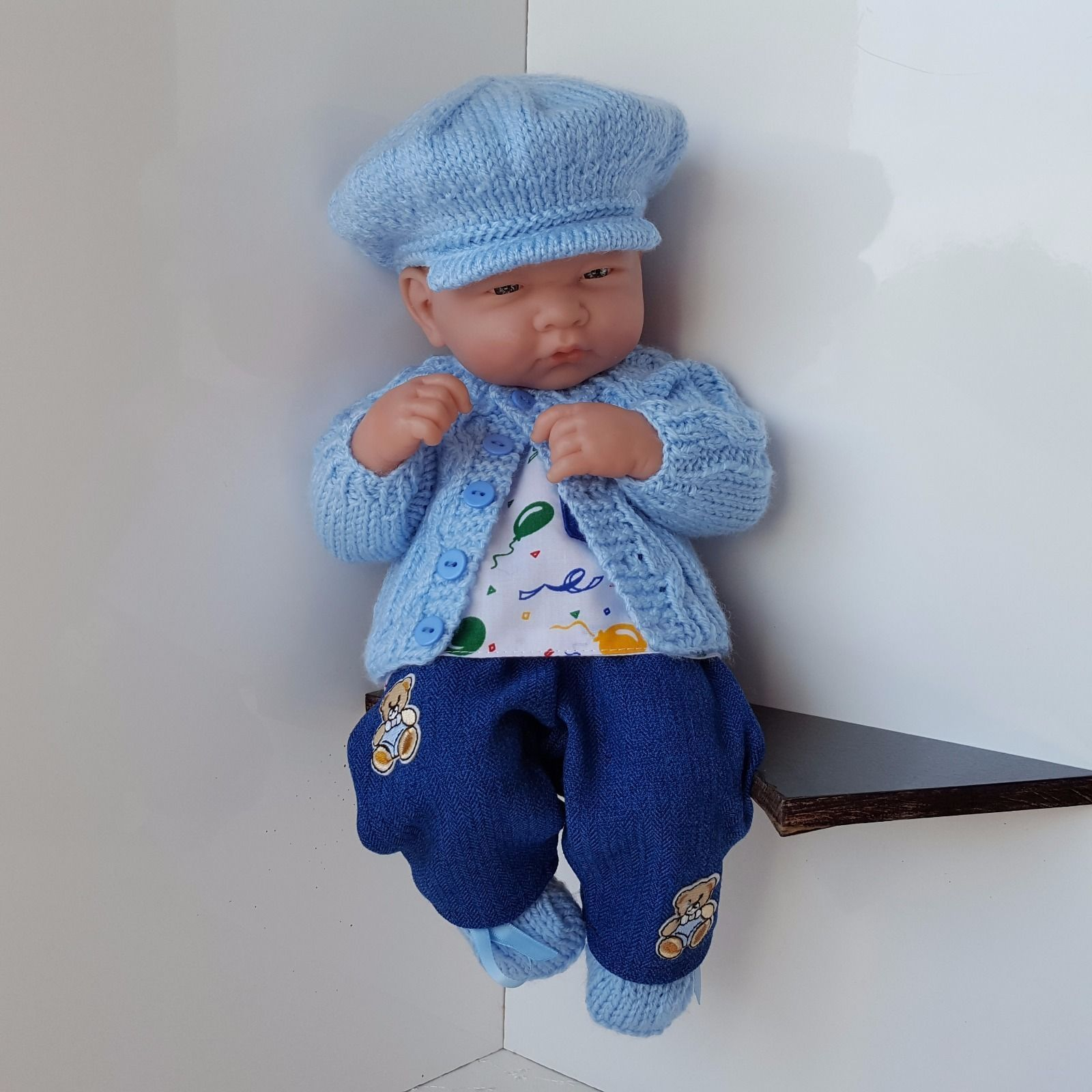 "Handmade Baby Boy Doll Clothes for 13"" 14"" BERENGUER"