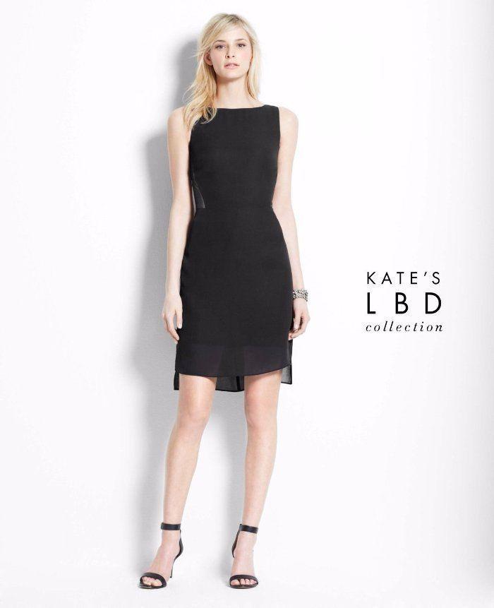 efc554c0dd  149 Kate Hudson for Ann Taylor Illusion Mesh Panel Black Sheath Dress 8  A780  AnnTaylor  Sheath  Cocktail
