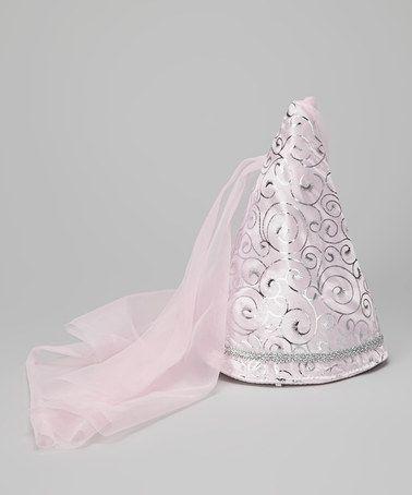 Pastel Pink Swirl Princess Cone Hat - Girls by Story Book Wishes #zulily #zulilyfinds