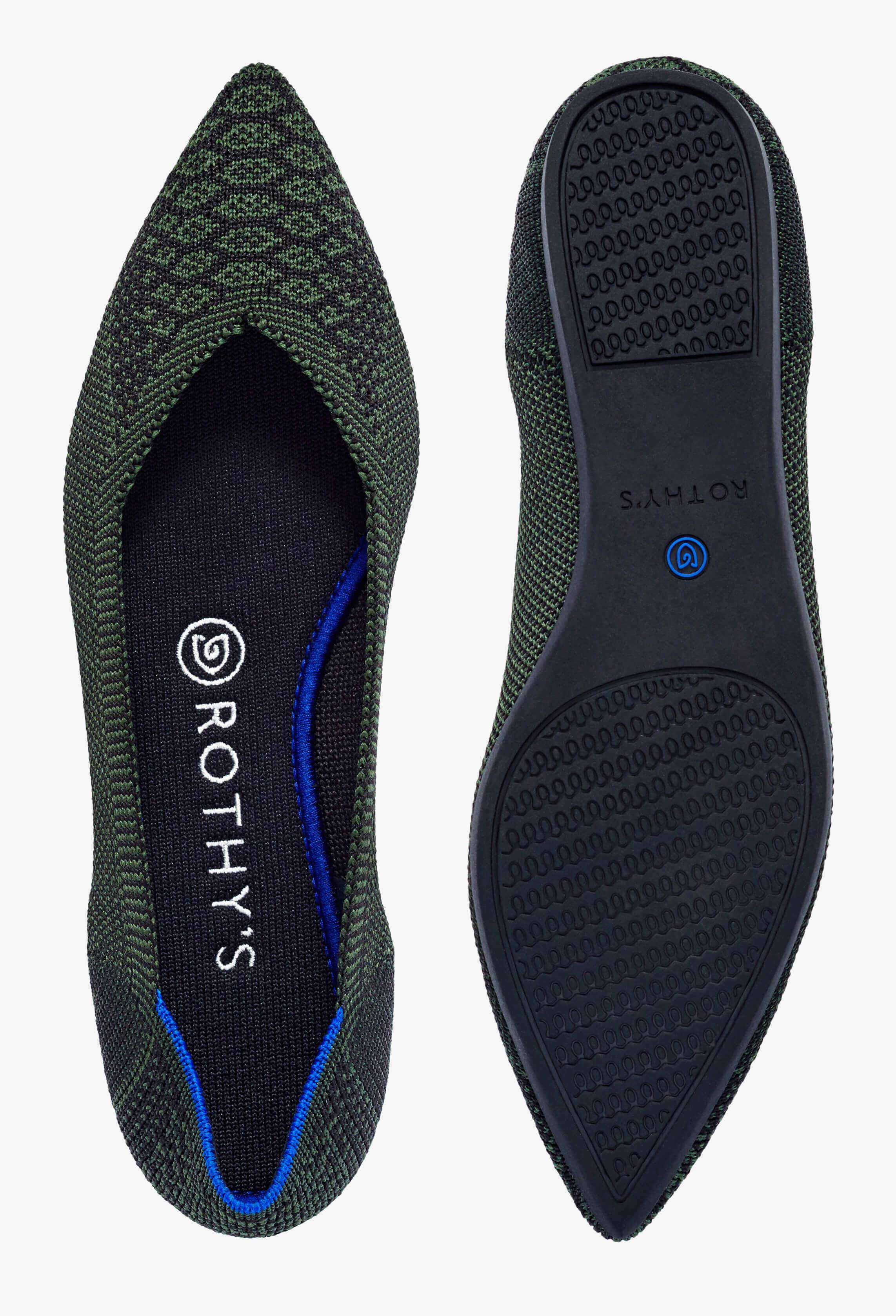 pointed toe flats. Made from recycl