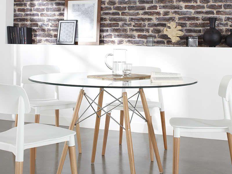 Table Ronde En Verre  Design Rtro Chaise Design Et Copenhague