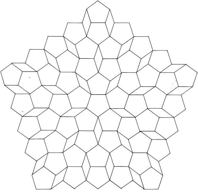 pentagons patterns textures pinterest mandala