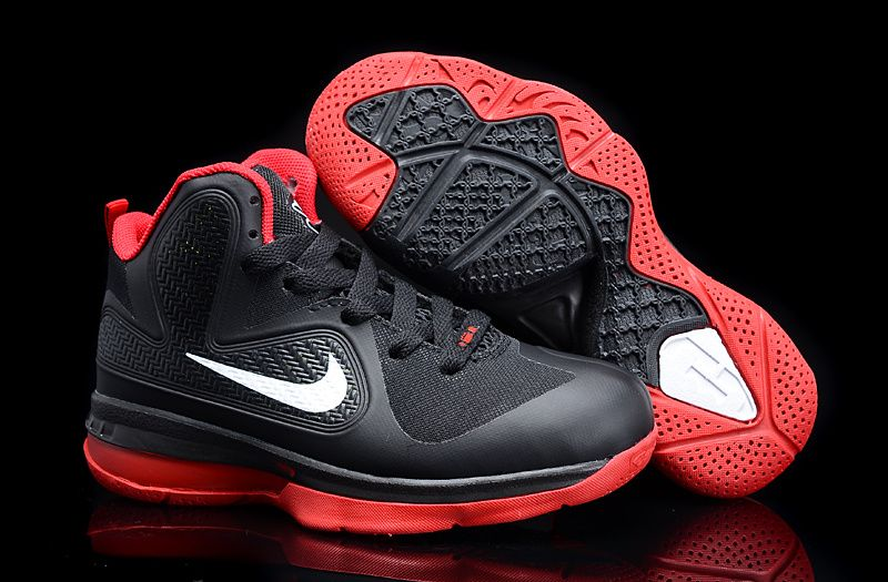 Nike Lebron James 9 Max Black Red Shoes