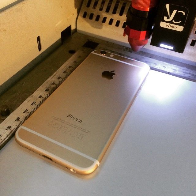 The Golden One - ready to engrave  by http://www.laser-tattoo.info #apple #iphone6 #gold #Gravur #engrave #trotec #diamants #
