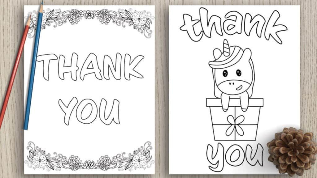 7 Free Printable Thank You Coloring Pages Printable Coloring Pages Christmas Coloring Cards Printable Coloring