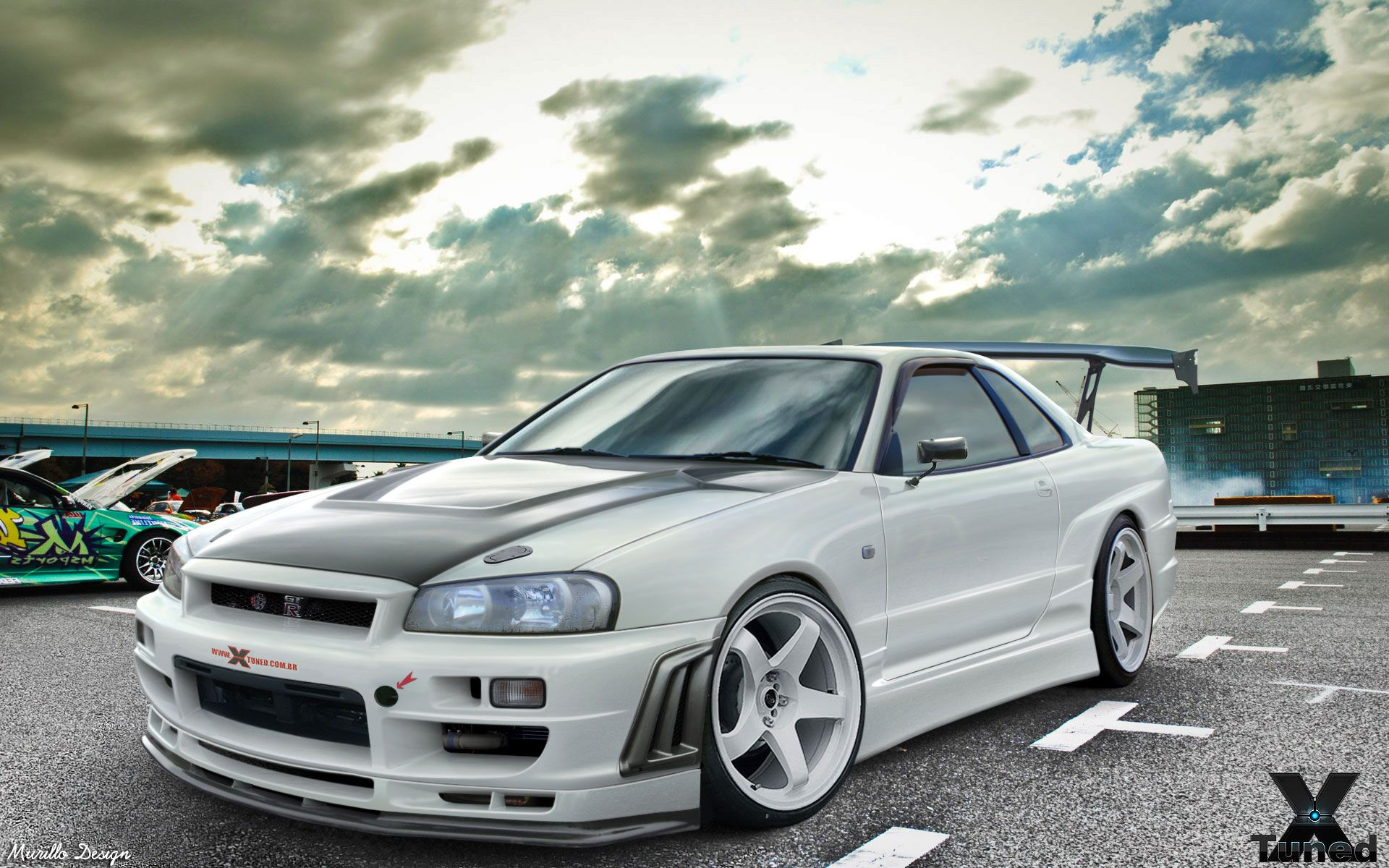 nissan skyline r34 gt r v spec 2000 nismo nissan white front left angle view hd wallpapers. Black Bedroom Furniture Sets. Home Design Ideas