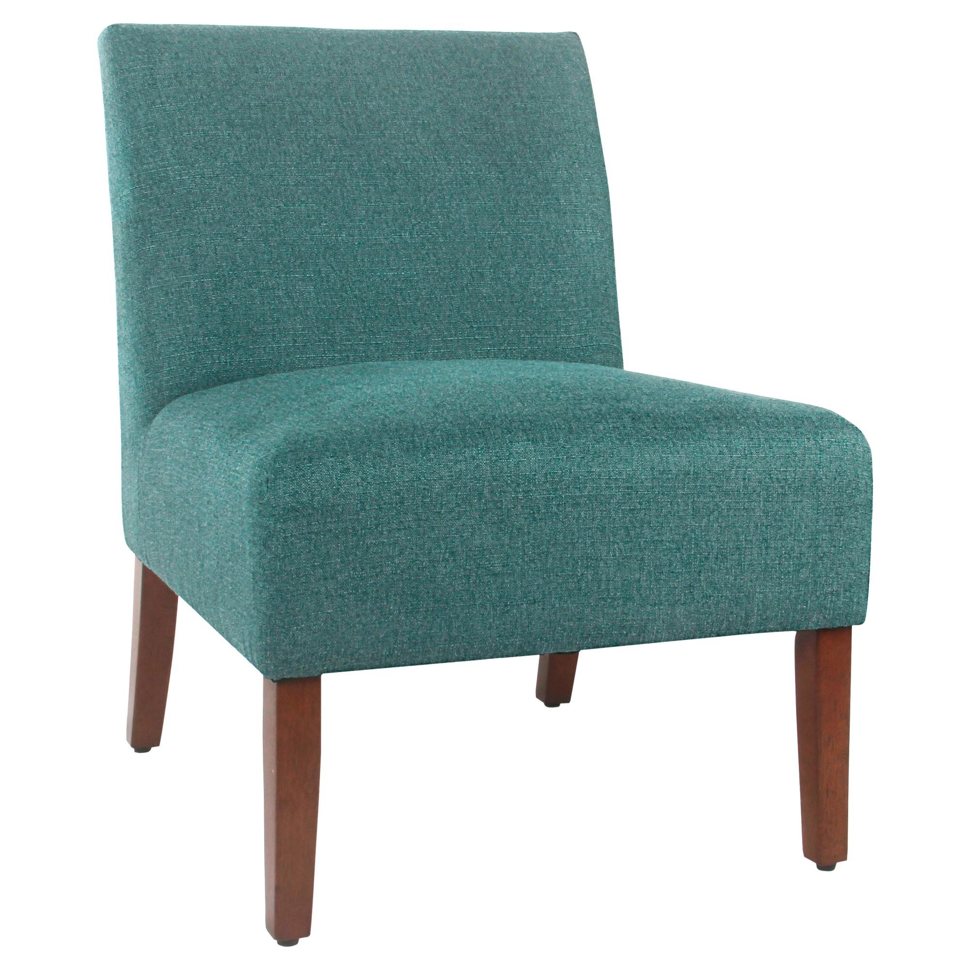 Best Carson Armless Accent Chair Teal Homepop Armless 400 x 300