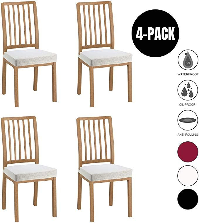 Jacquard Dining Room Chair Seat Covers Office Rotate Seat Slipcover M/_Beige