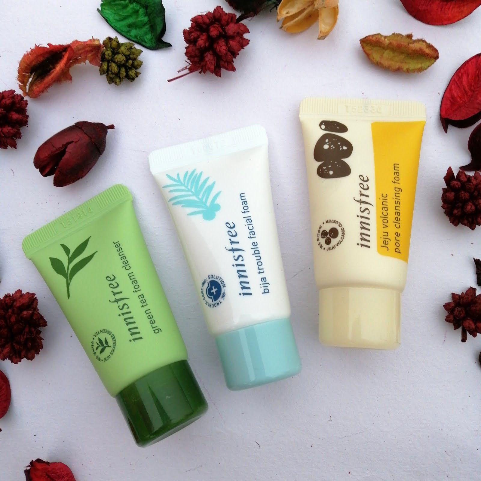 Innisfree Cleansing Foam Trial Kit Review Innisfree Innisfree Skincare Korean Skincare Acne