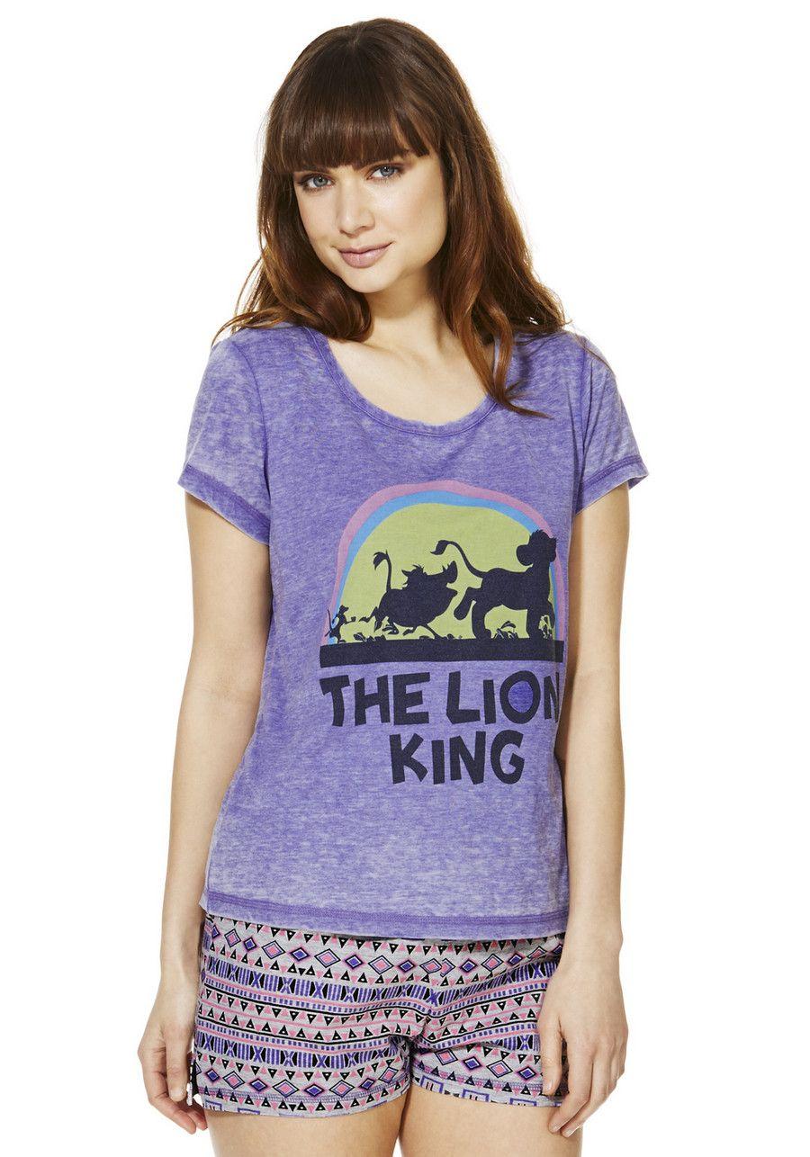 Clothing at Tesco | Disney Lion King Shorts Pyjamas > nightwear ...