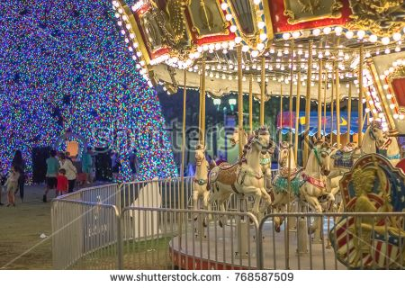 Christmas carousel ride in the City Carousels and more Pinterest - christmas carousel decoration