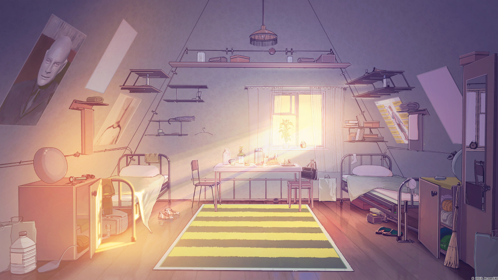 Artstation Summer Camp Backgrounds Arseniy Chebynkin Bedroom Drawing Anime Scenery Anime Background