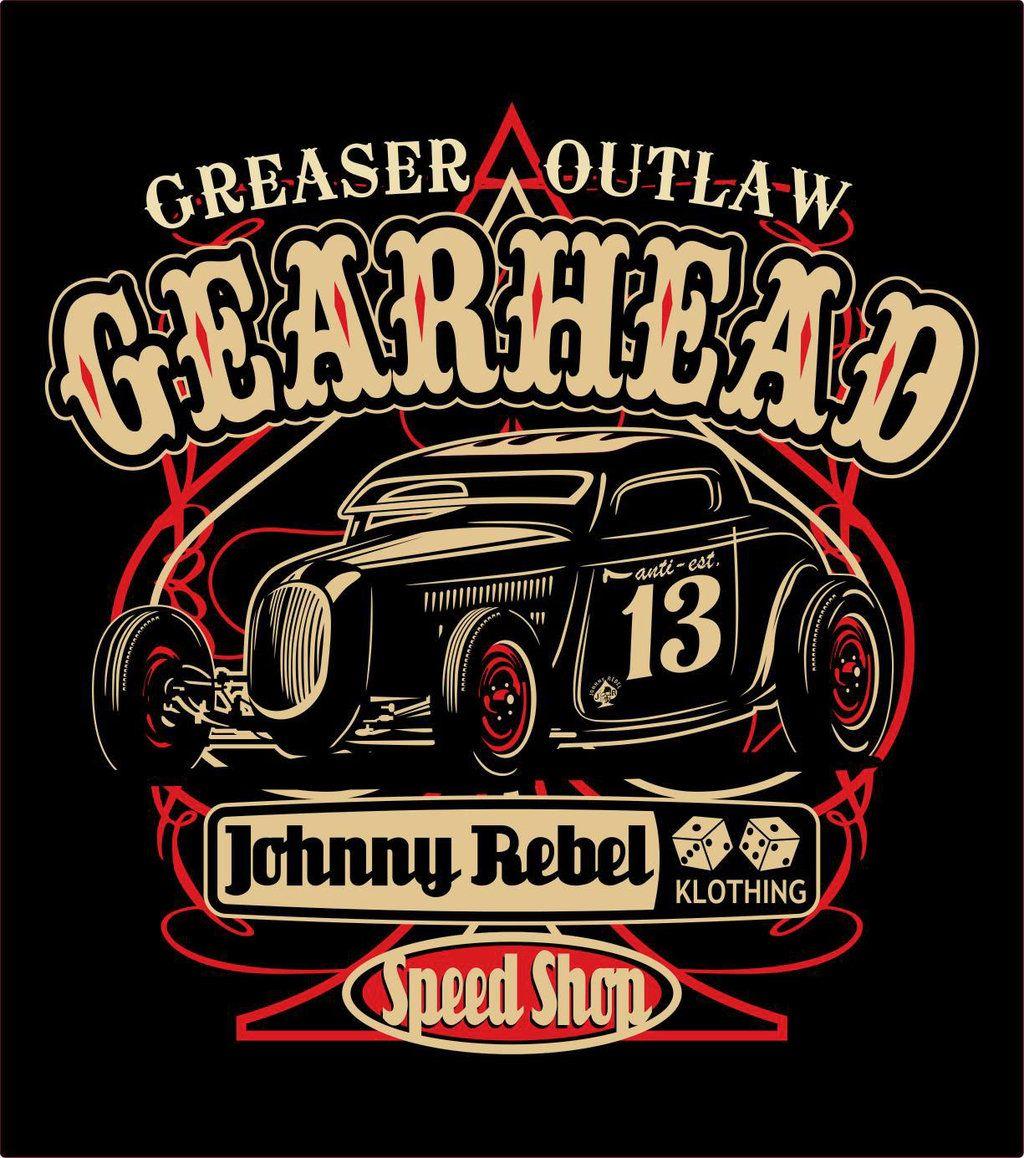 Design t shirt motor - Johnny Rebel T Shirt Design Gearhead By Russellink Deviantart Com On Deviantart